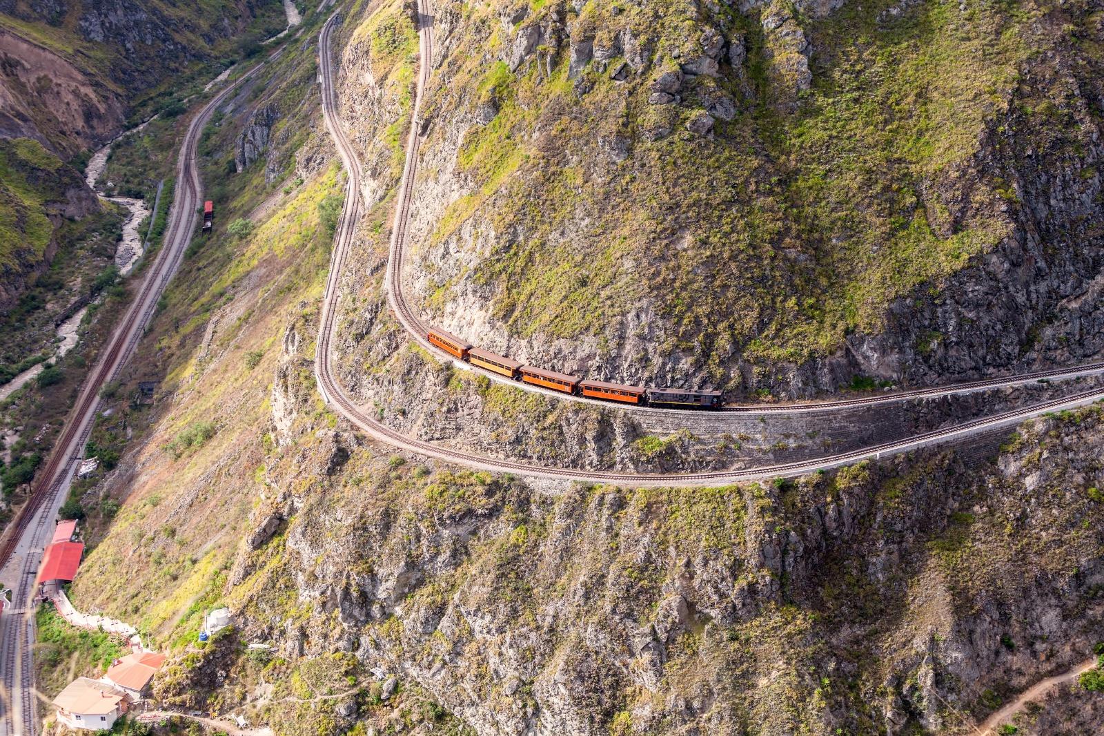 エクアドルの鉄道 南米の鉄道風景