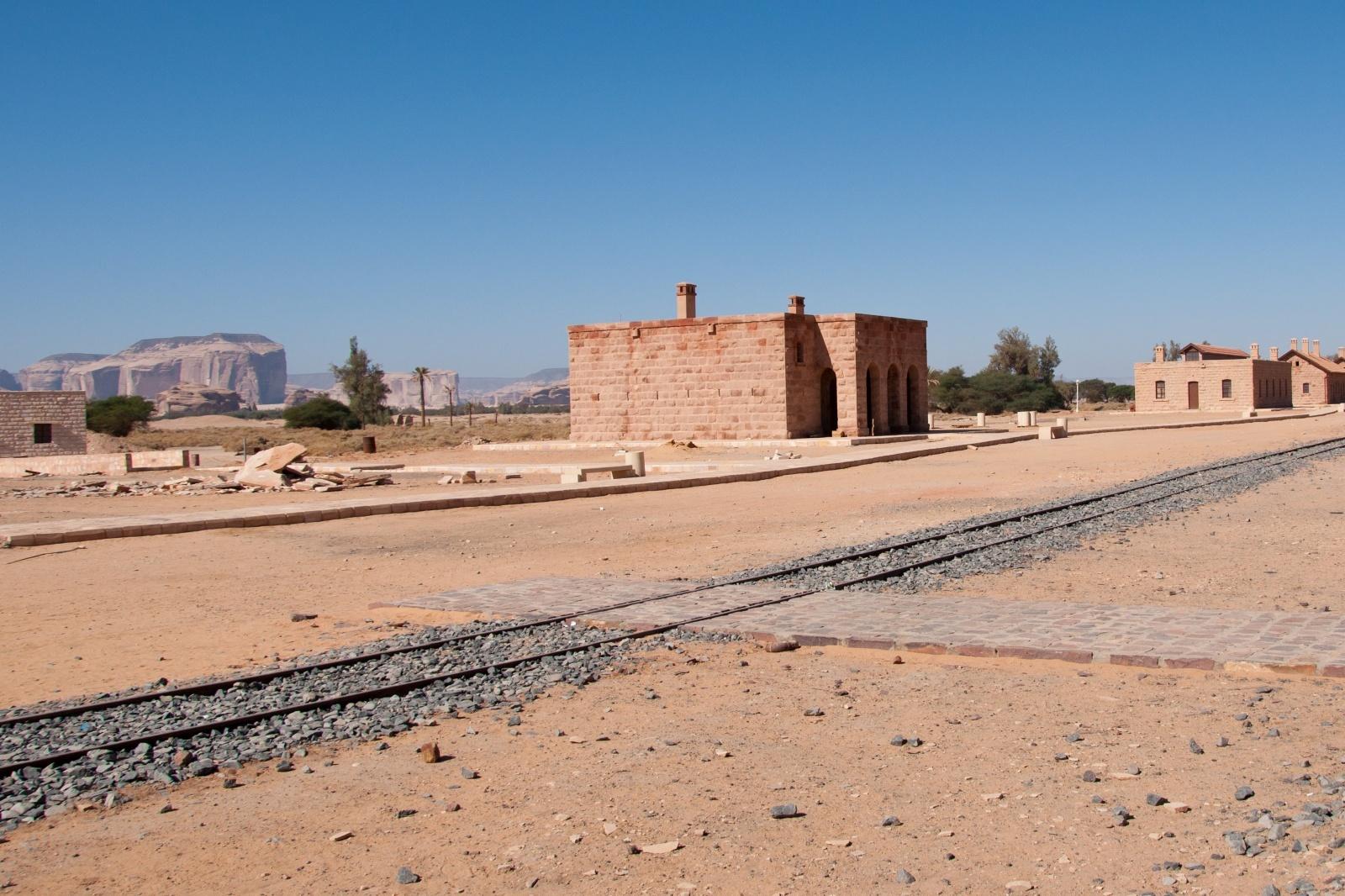 ダマスカスとサウジアラビアを結んだヒジャーズ鉄道の跡 中東の鉄道風景