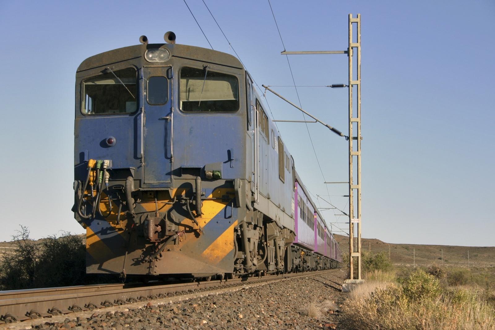 南アフリカの鉄道風景