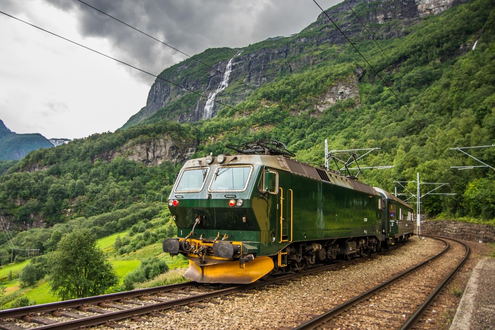 北欧の鉄道 フロム鉄道 北欧の鉄道風景